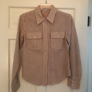 KORS Michael Kors Striped Button Down Shirt